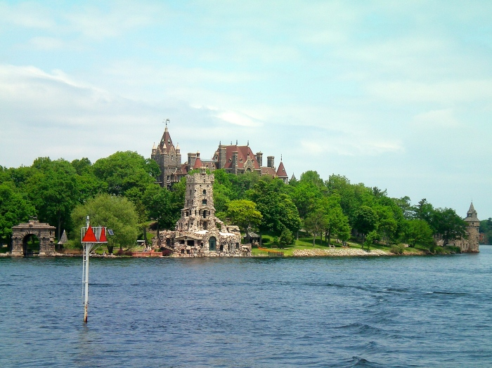 Boldt Castle viewed from Alexandria Bay