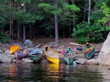 Canoeing, a summertime classic. -- Lac Poisson Blanc, La Pêche, Quebec