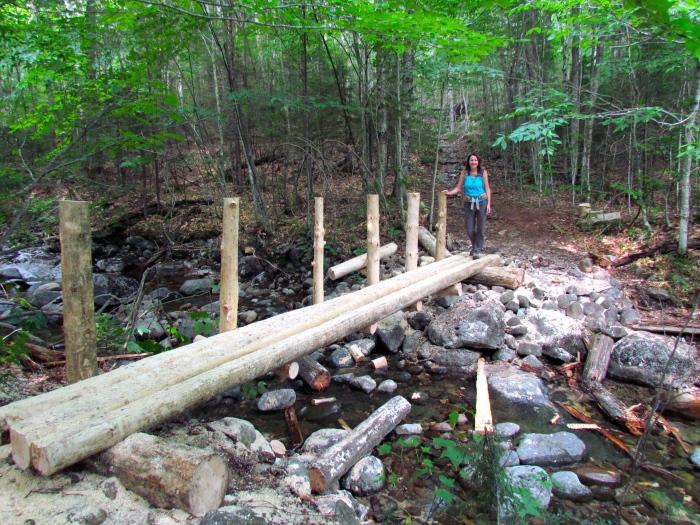 New bridge over brook