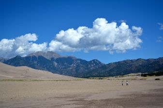Medano Creek in the dry season - Great Sand Dunes National Park