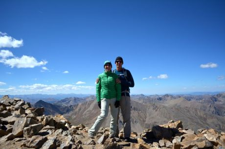 """""""Rocky Mountain High"""" from the summit of Mount Elbert, Colorado"""