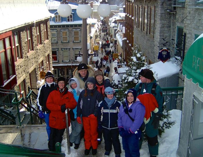 A family affair. View of Quartier Petit Champlain (Loweer Town) from the top of Escalier casse-sou (Breakneck stairs) (2004)