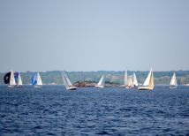 Typical breezy Tuesday night along the St Lawrence River -- Brockville, Ontario