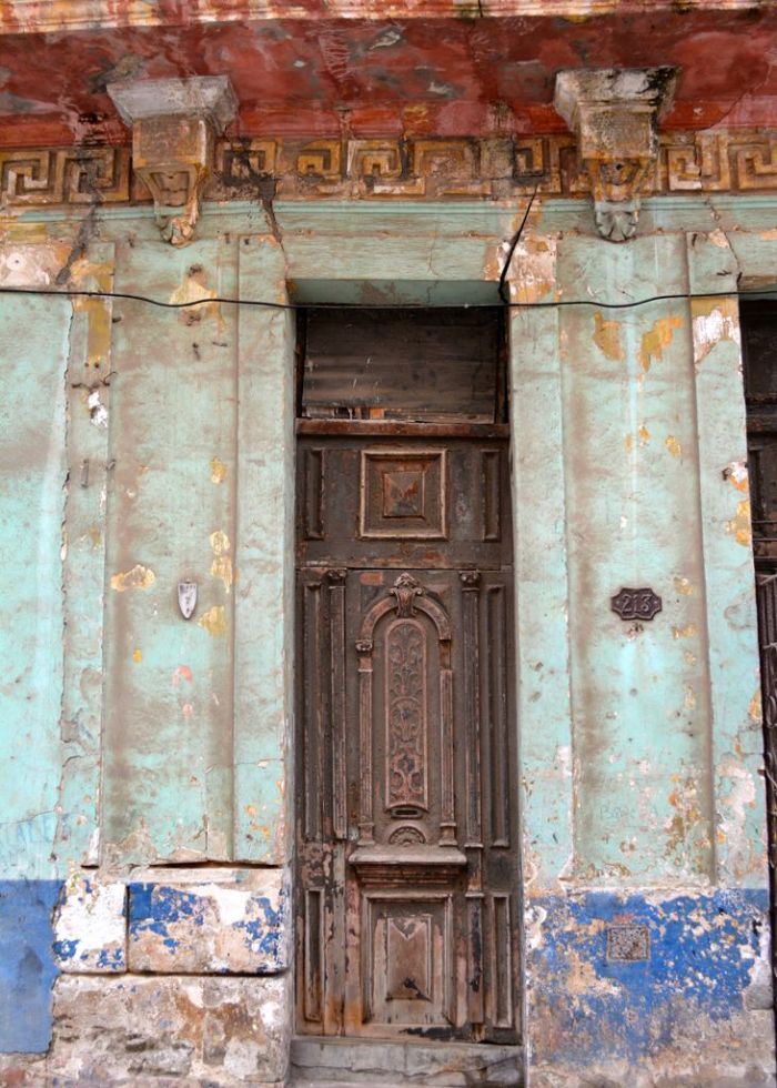 Weathered doorway
