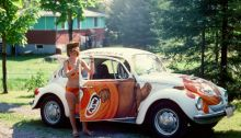A & W Root Beer car