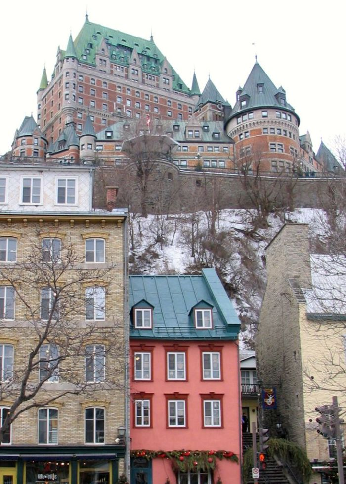 View of Château Frontenac from Quartier Petit Champlain (Lower Town)