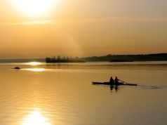 Morning practiceon the St. Lawrence river -- Brockville, Ontario