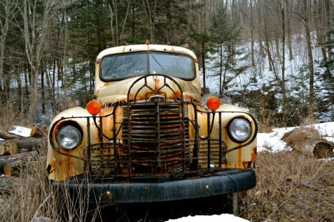 Yesterdays workhorse; The International Harvester KB5 found along route 23 in Central New York