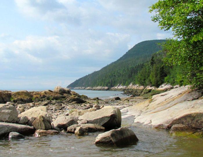Carming cove an hamlet found along the Saint-Lawrence River--Port-Au-Persil, Quebec