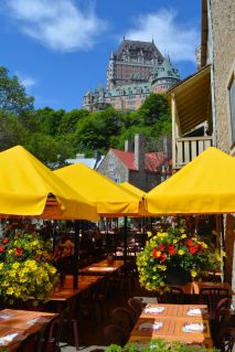 Summer Terrace in Quebec City Lower Town