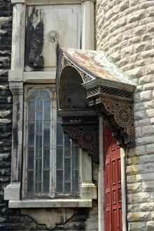 Canopy entrance at l'Eglise Saint-Jean Baptiste --Quebec City, Quebec