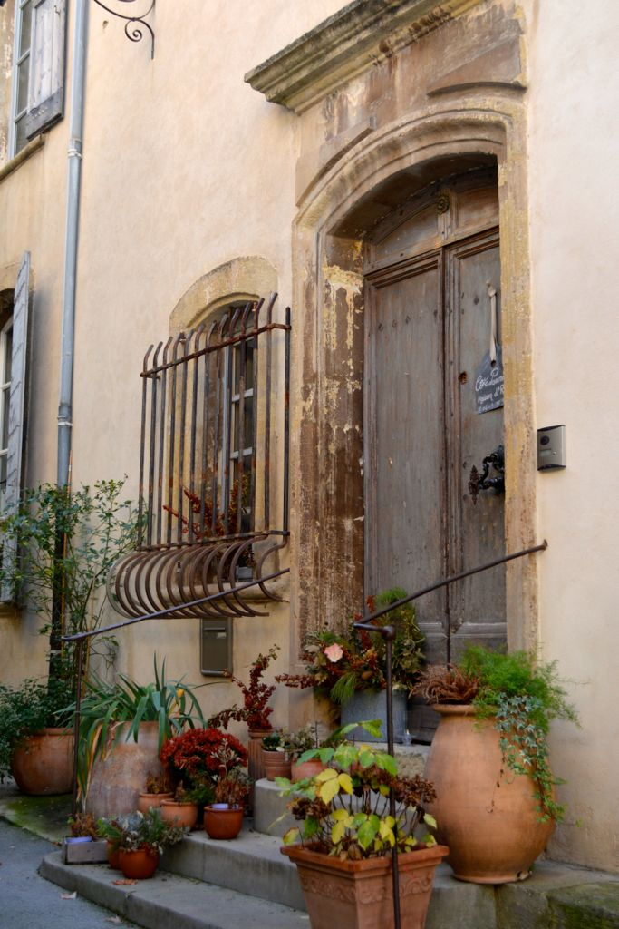Old door in Lourmarin