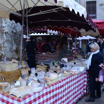 Cheese selection in Aix-en-Provence