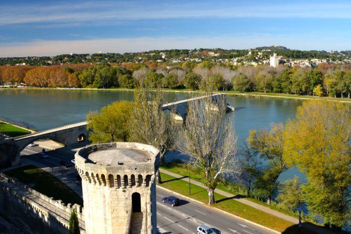 View across the Rhône from Notre Dames des Doms