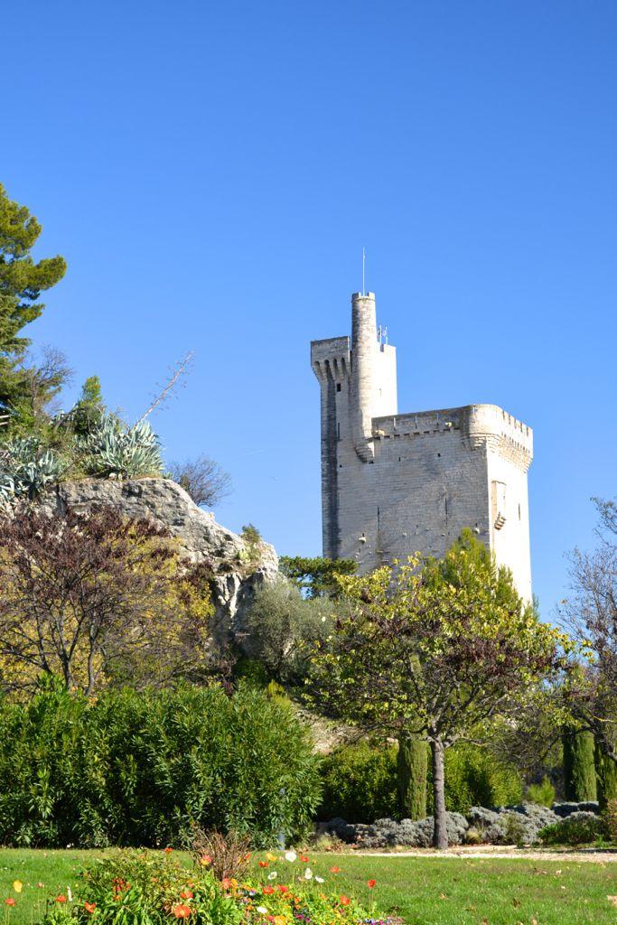 Tour Philippe Le Bel seen from Jardin Pompidou, Villeneuve Lez Avignon