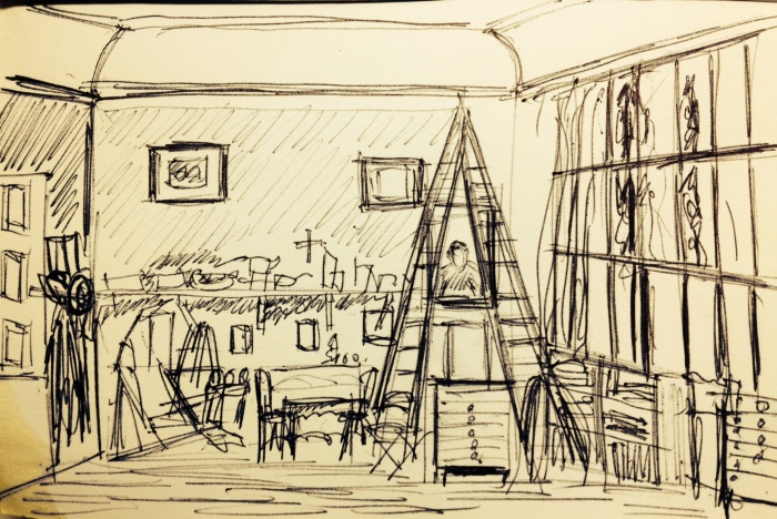 Cezannes Studio Sketch