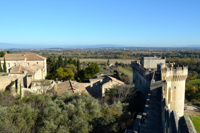 View along the ramparts fo Fort Saint-André, Villeneuve Lez Avignon