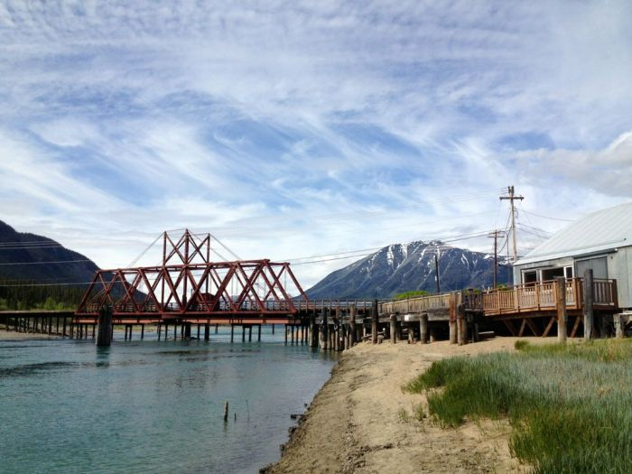 Rail bridge in Carcross