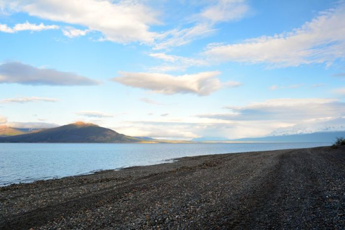 View of Kluane Lake from Congdon campsite