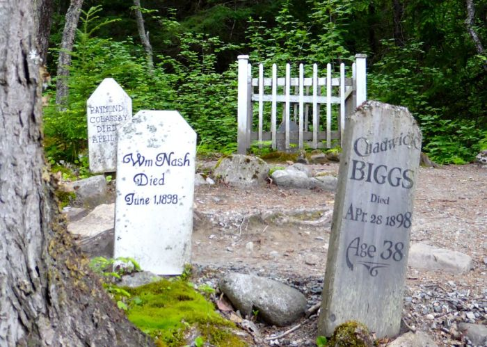 Chadwick Biggs at the Gold Rush Cemetery.