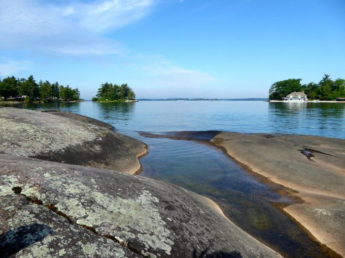 Our Million dollar waterfront campsite for $28US per day—can't be beat. Thousand Islands Region, New York
