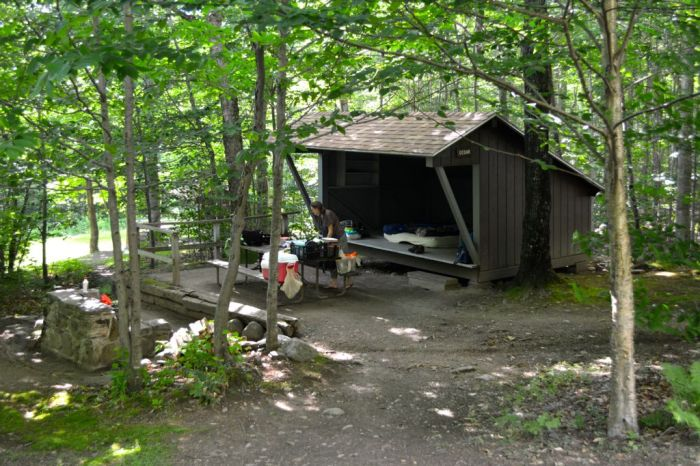 Underhill State Campground, Lean-to
