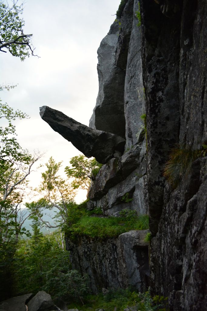 Cantilever Rock, Sunset Ridge Trail, Mount Mansfield