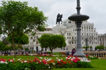 Plaza San Martin. Lima, Peru