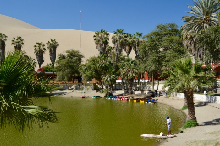 The lagoon at Huacachina, Peru
