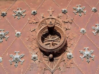 Door knocker on the Cathedral doors