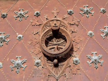 Door knocker on the Cathedral doors