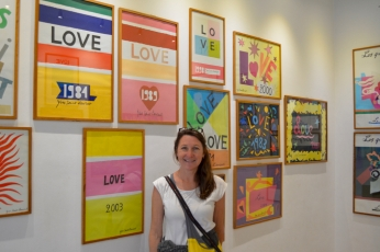 Love posters at the Yves Saint Laurent pavillion, Jardin Majorelle, Marrakesh
