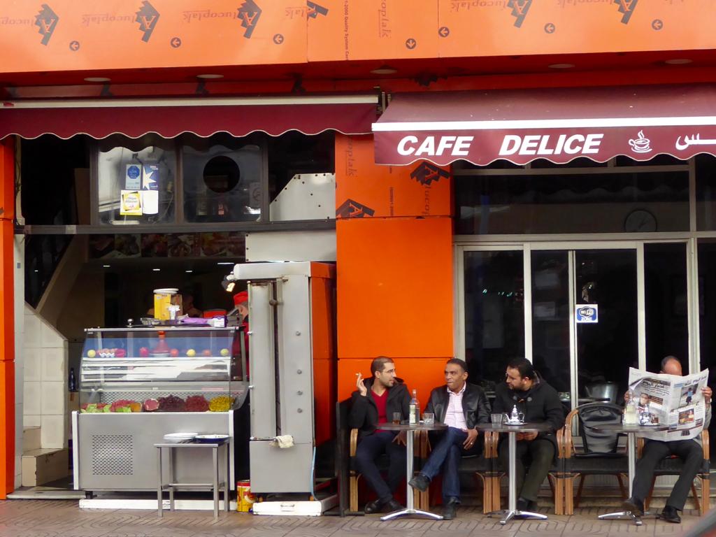 Men drinking tea in Casablanca