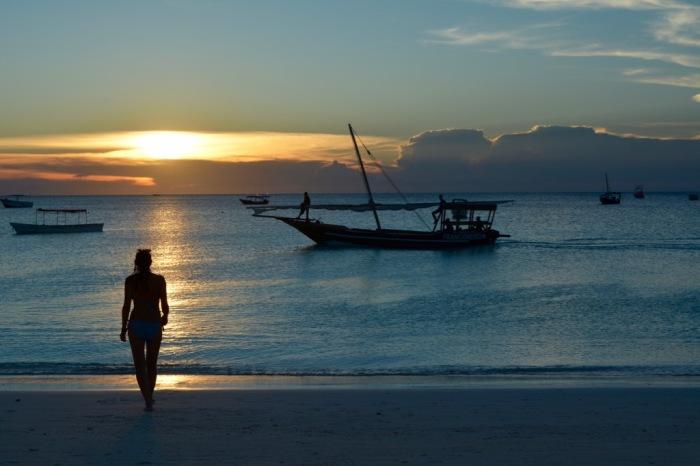 Today's sunset, life on the beach in Zanzabar.