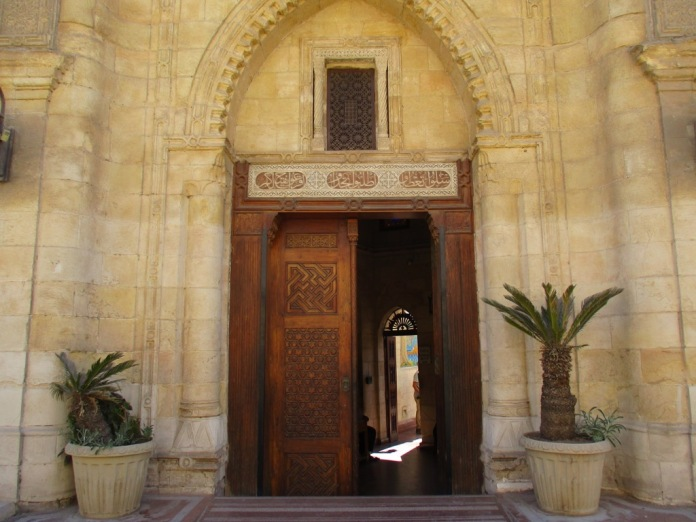 Entrance door to the Hanging Church, seen from the street.