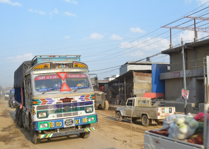 Road King Tata truck in Kathmandu