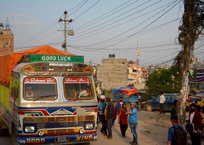 Good Luck Tata truck in Kathmandu