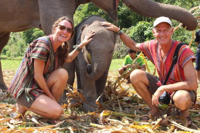 No Riding, Elephant Jungle Sanctuary. Chiang Mai